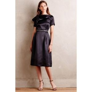 Anthropologie Gray Asheville Silk Dress By Raoul
